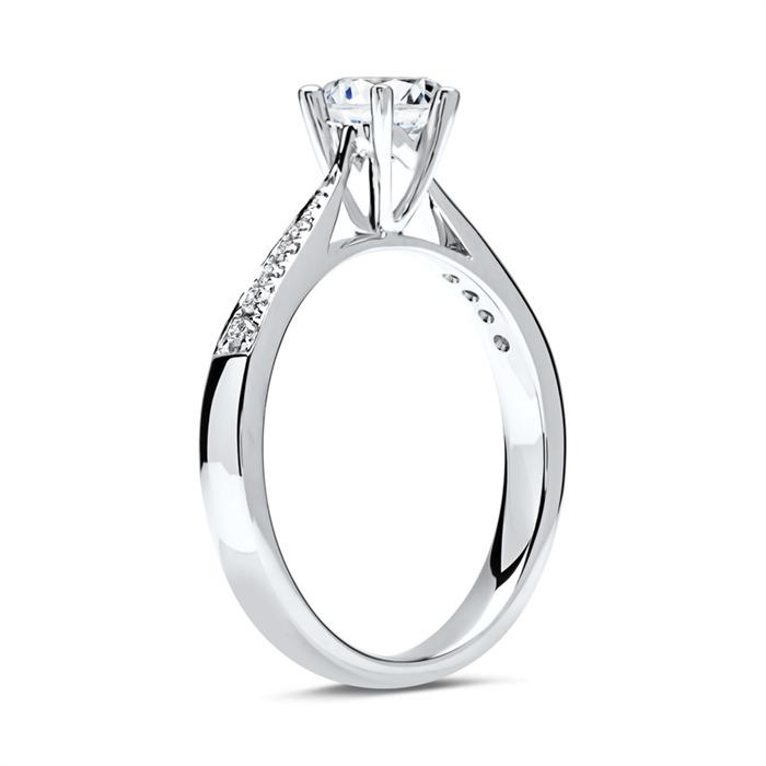 950er Platin Verlobungsring mit Diamanten