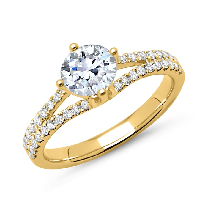 Diamantring 585er Gold