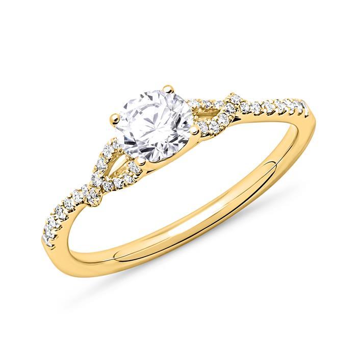 750er Gold Ring mit Diamanten