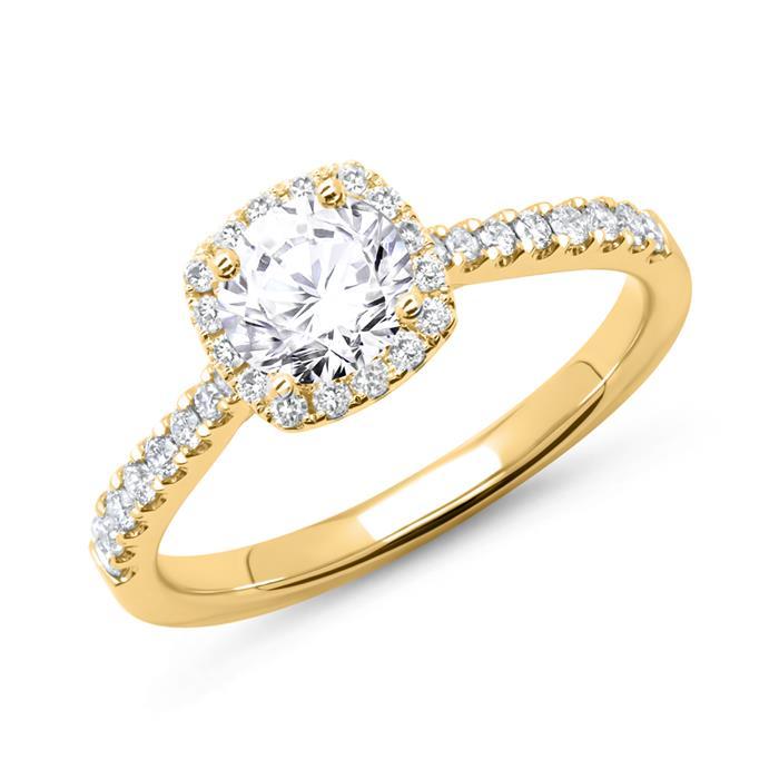 750er Gold Verlobungsring mit Diamanten