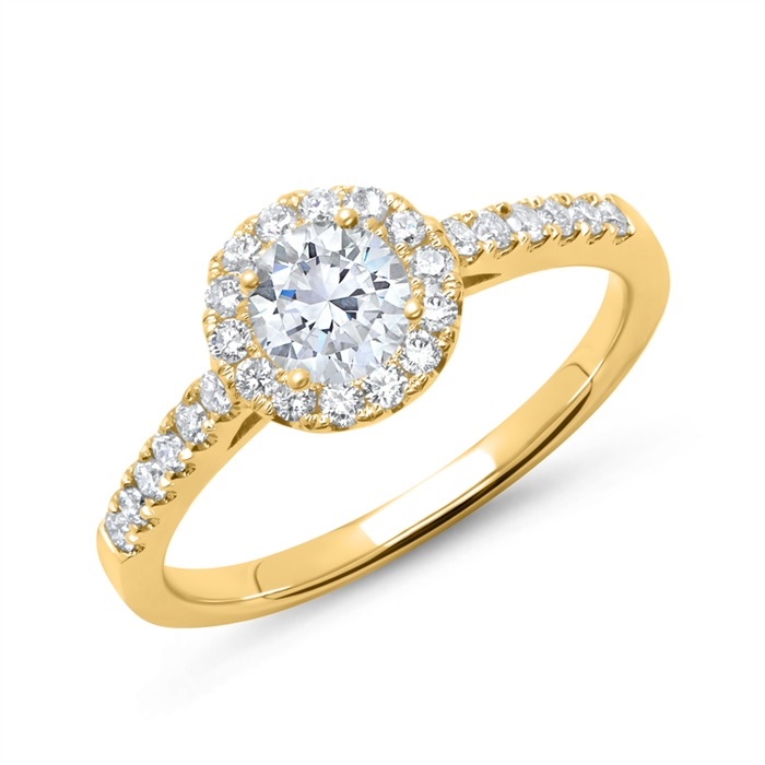 Verlobungsring 750er Gold mit Diamanten