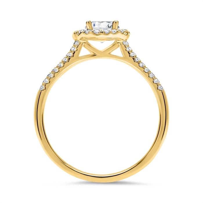 Halo Ring 585er Gold mit Brillanten