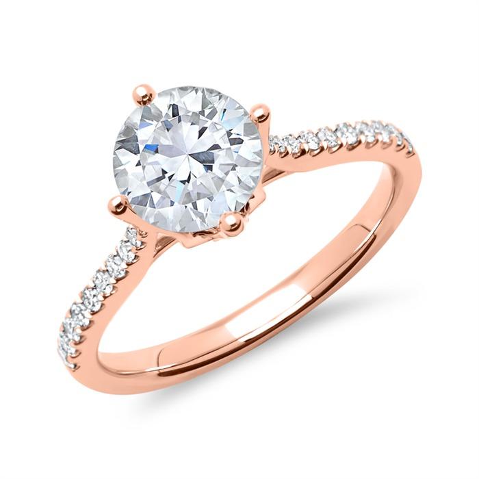 750er Roségold Ring mit Brillanten