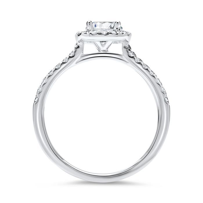 750er Weißgold Ring mit Brillanten