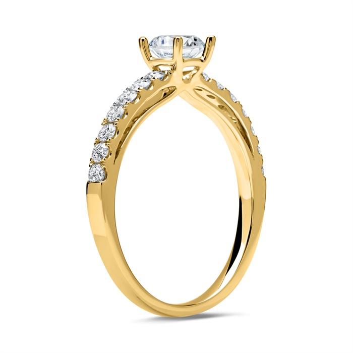 Verlobungsring 585er Gold mit Diamanten