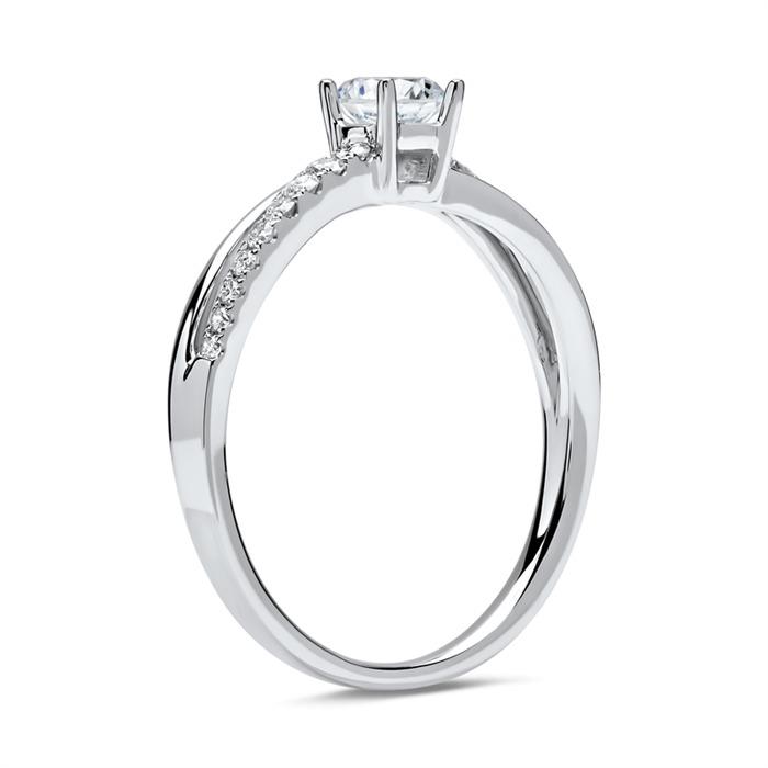 950er Platin Ring mit Brillanten