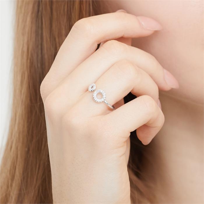 Ring Weißgold, besetzt 27 Diamanten 0,11ct.