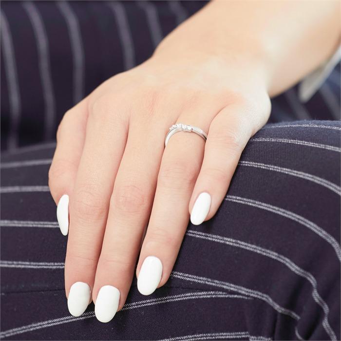 Ring 585er Weißgold 5 Diamanten 0,1540 ct.