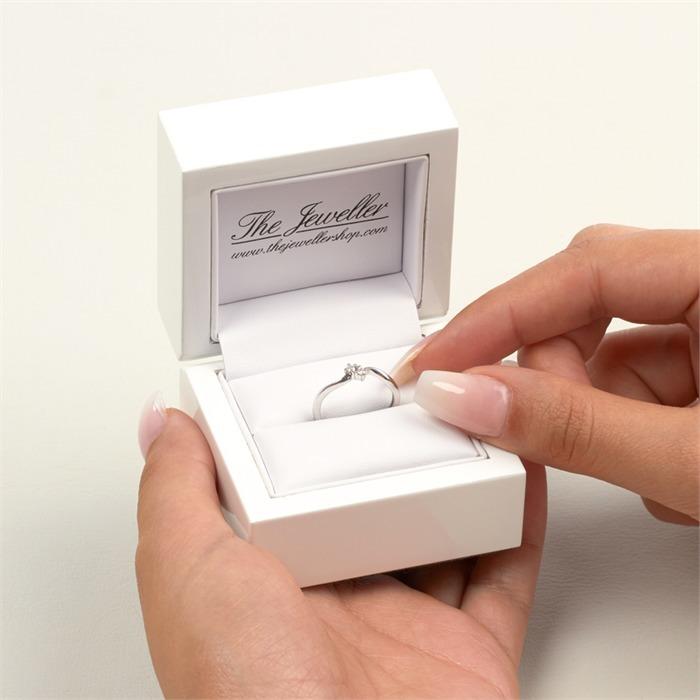 Damen-Ring 585er Weißgold 2 Diamanten 0,06 ct.