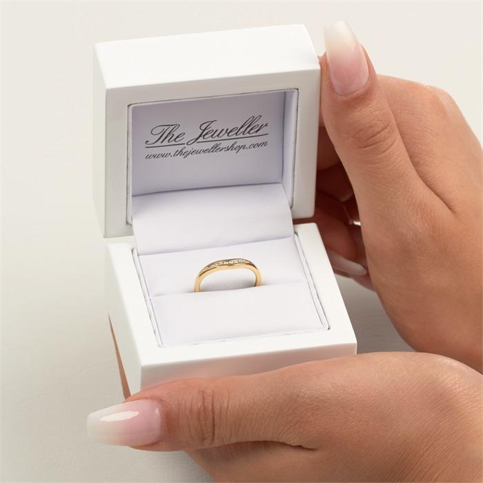 Ring 585er Gelbgold 9 Diamanten 0,071 ct.
