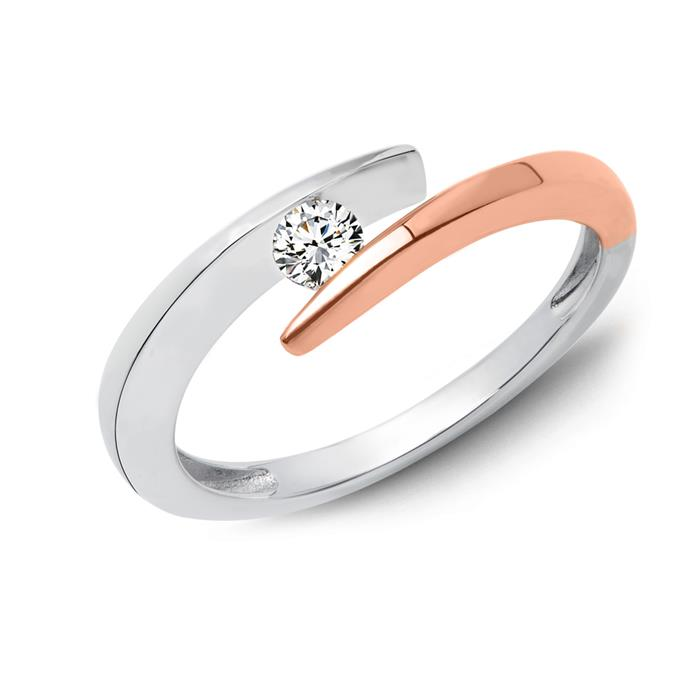 Damen-Ring 585er Weißgold Diamant 0,115 ct.