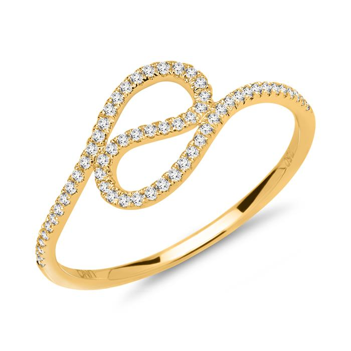 Ring 750er Gelbgold 59 Diamanten 0,18 ct.