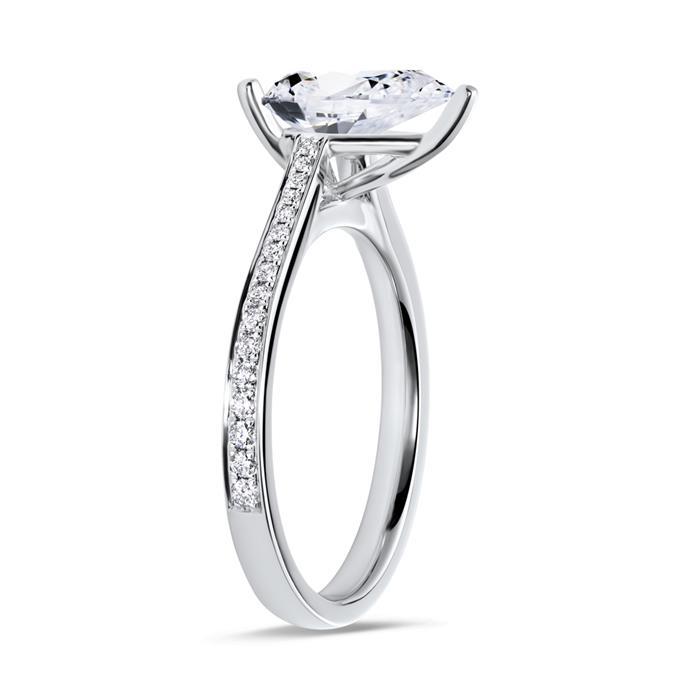 Ring 18-karätigem Weißgold mit Diamanten