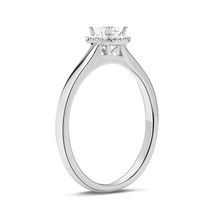 Damen Ring 750er Weißgold mit Diamanten