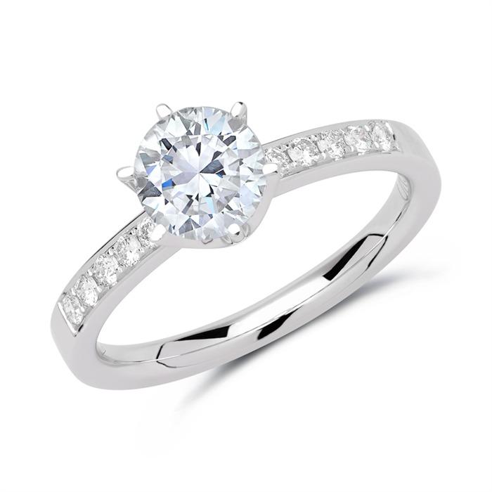 Ring 750er Weißgold mit Diamanten