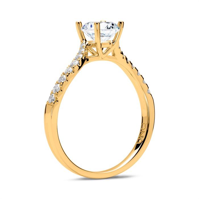 Ring 585er Gold mit Diamanten