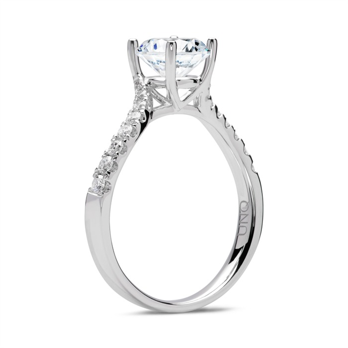 950er Platin Ring mit Diamanten