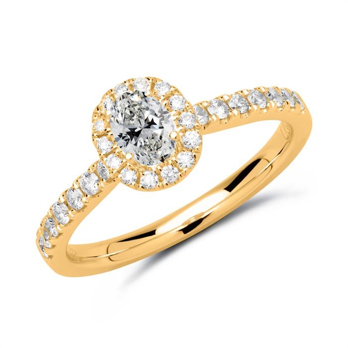 Halo Ring 750er Gold mit Diamanten
