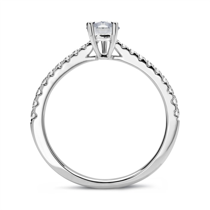 Ring 950er Platin mit Brillanten