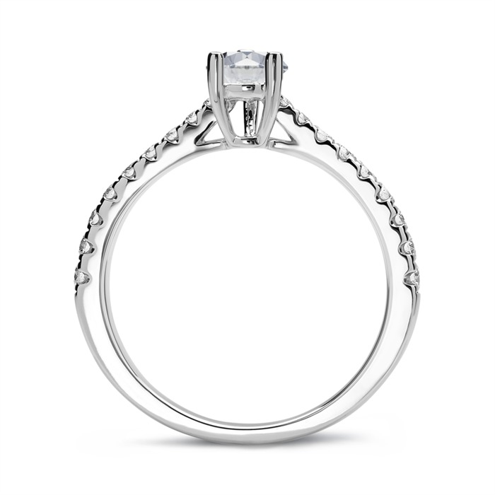 950er Platin Ring mit Brillanten