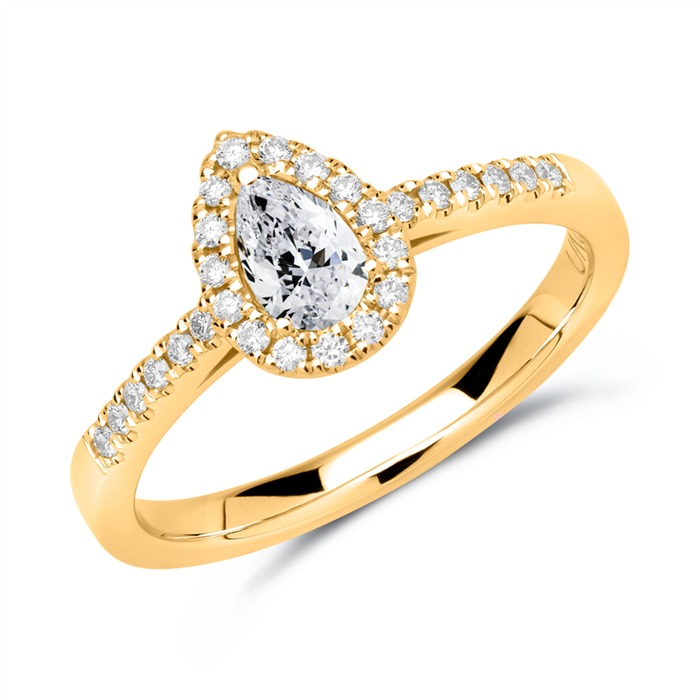 750er Gold Ring mit Diamanten