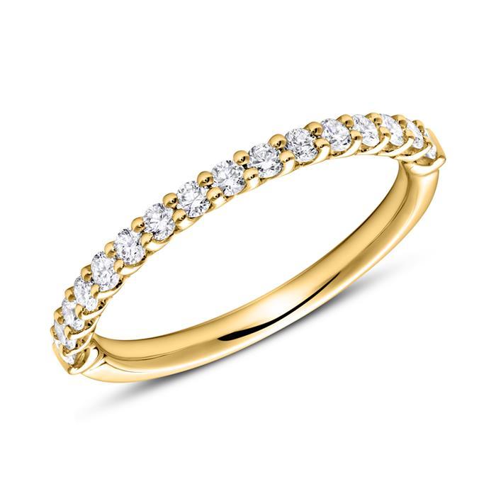 Eternity Ring 750er Gold 16 Diamanten