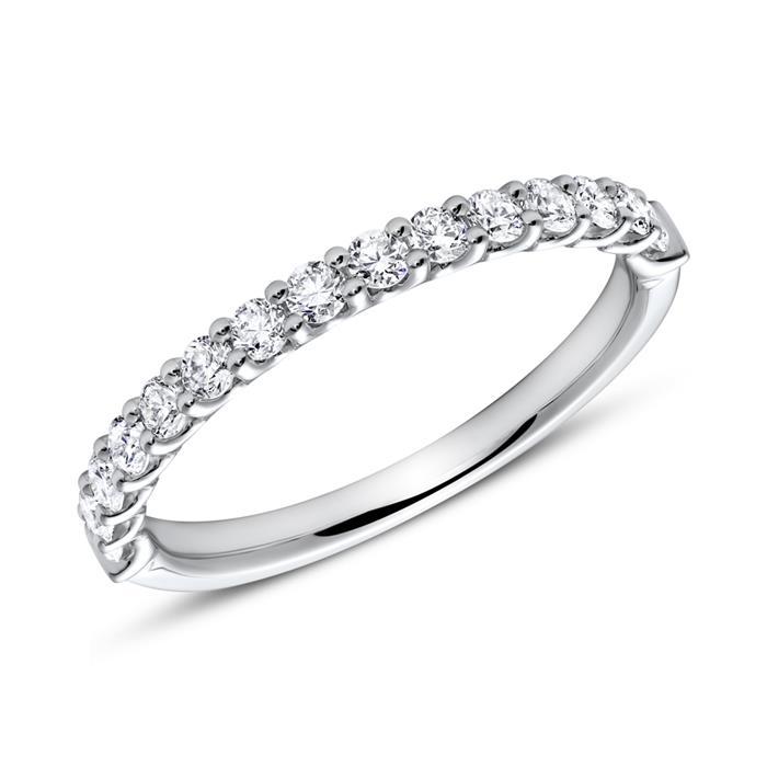 750er Weißgold Eternity Ring 15 Diamanten