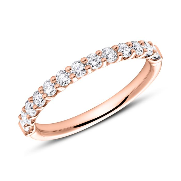 Memoire Ring 585er Roségold 13 Diamanten