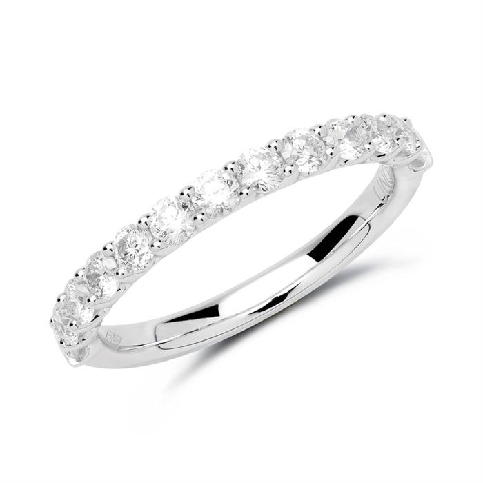 950er Platin Eternity Ring 13 Brillanten
