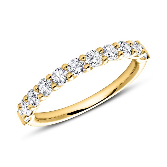 Eternity Ring 14K Gold Diamant
