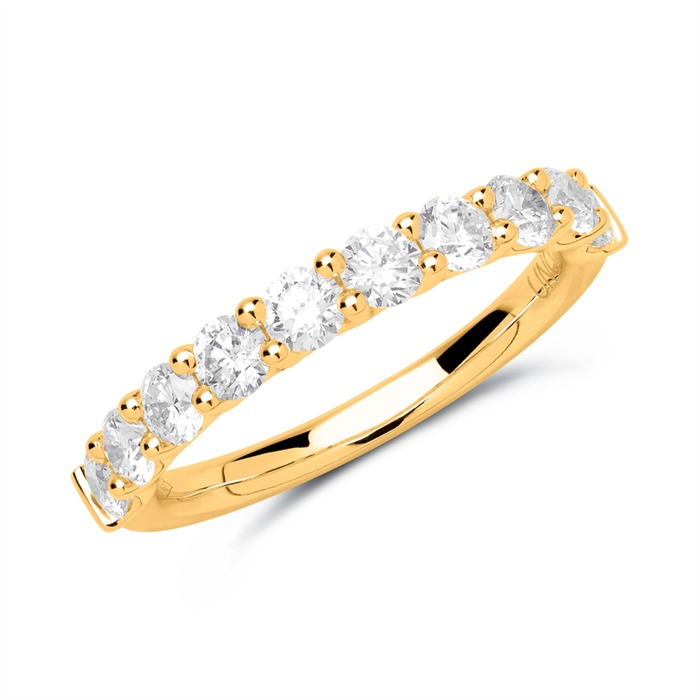 Eternity Ring 585er Gold 10 Diamanten