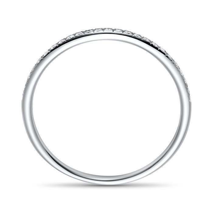 Memoire Ring 585er Weißgold 25 Diamanten