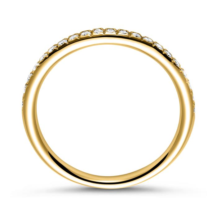 750er Gold Eternity Ring 2Diamant