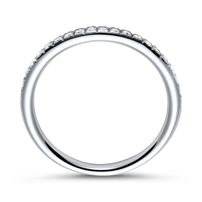 750er Weißgold Eternity Ring 2Diamant