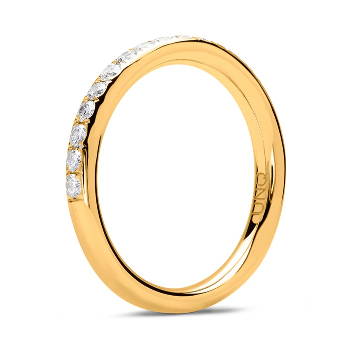 Eternity Ring 18K Gold 17 Diamanten