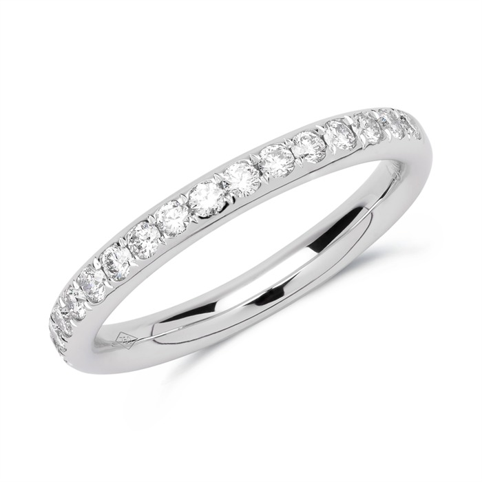 Eternity Ring 750er Weißgold 17 Diamanten