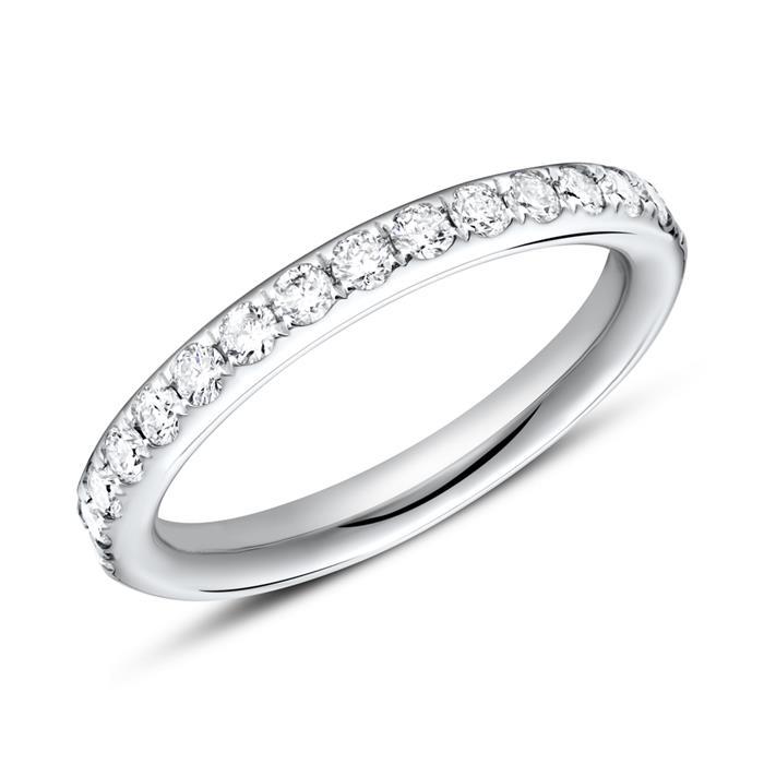 Ring Eternity 585er Weißgold 16 Diamanten