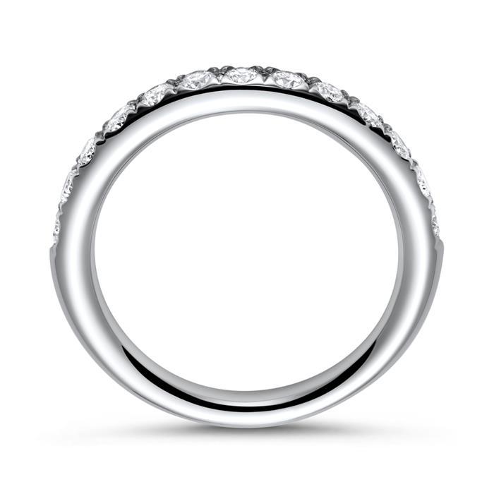 750er Weißgold Eternity Ring 13 Diamanten