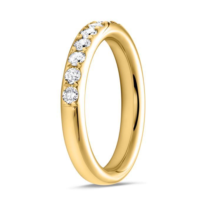 Eternity Ring 750er Gold 13 Brillanten