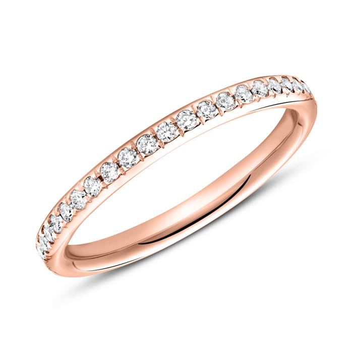 750er Roségold Ring Eternity 43 Diamanten