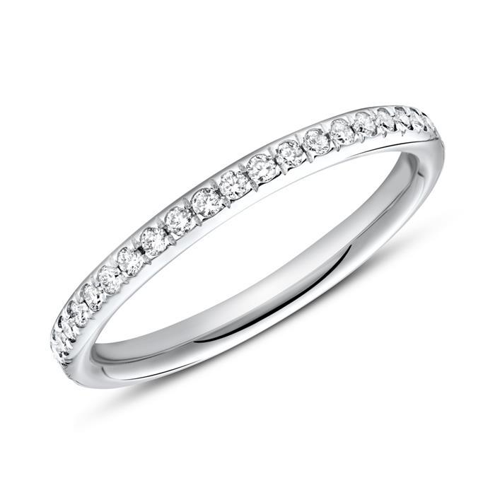 750er Weißgold Ring Eternity 43 Diamanten