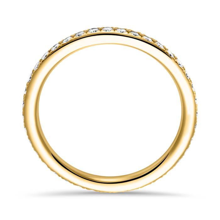 Memoire Ring 585er Gold 39 Diamanten