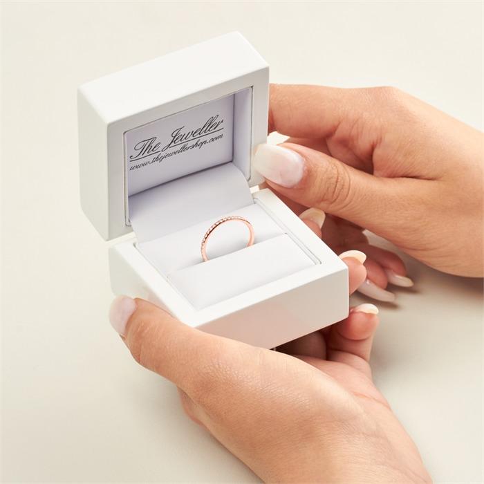 Memoire Ring 750er Roségold 39 Diamanten