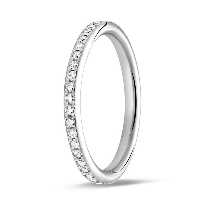 Memoire Ring 750er Weißgold 39 Diamanten