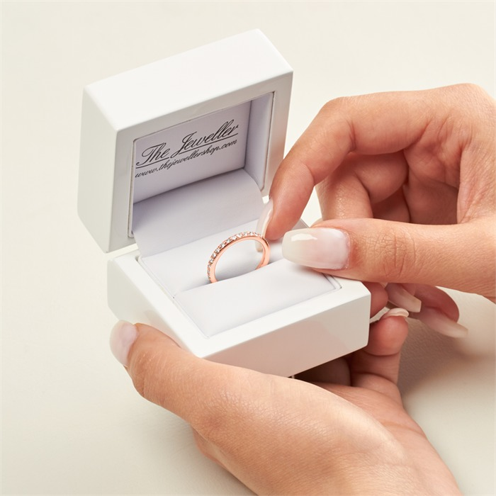 585er Roségold Ring Eternity 37 Diamanten