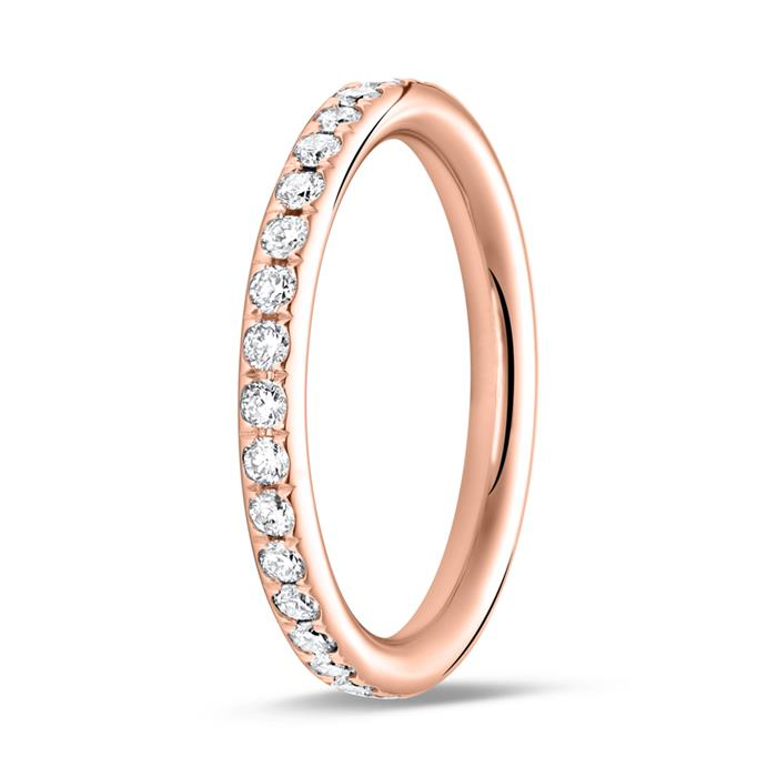 585er Roségold Memoire Ring 34 Brillanten