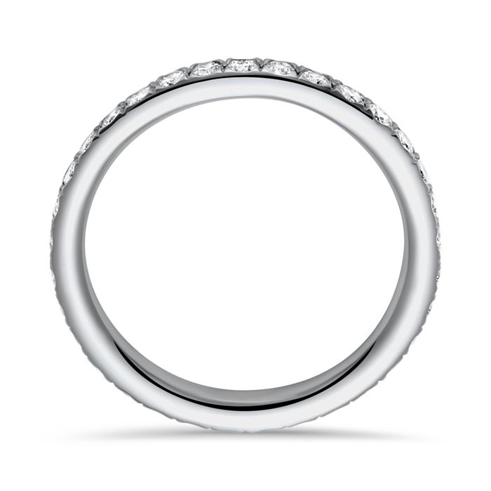 Eternity Ring 950er Platin 33 Diamanten