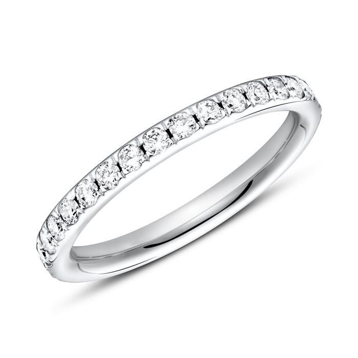 Eternity Ring 750er Weißgold 33 Diamanten