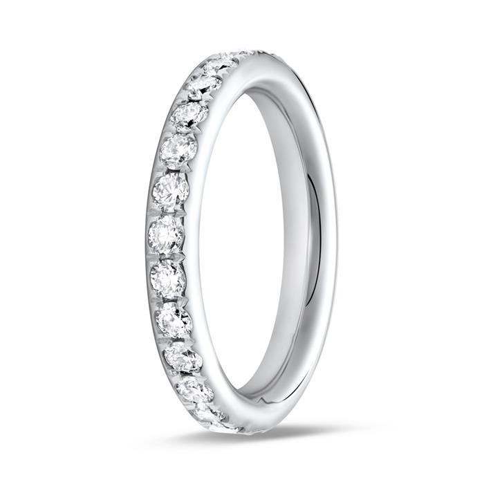 585er Weißgold Eternity Ring 27 Diamanten