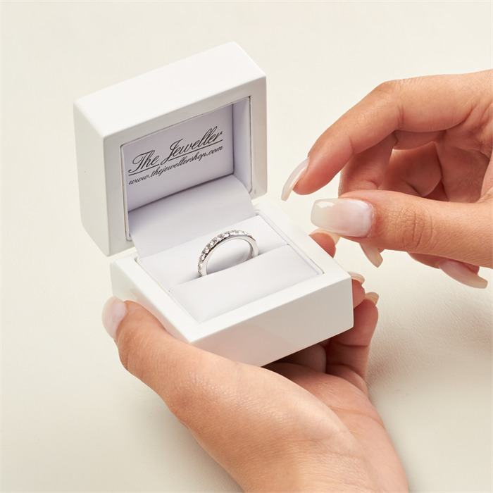 Eternity Ring 950er Platin 25 Diamanten